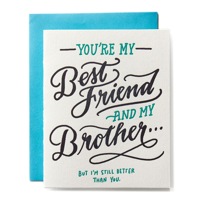 Best Friend Brother Letterpress Card