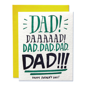 Dad Yelling Father's Day Letterpress Card