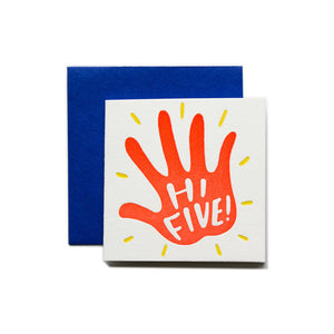 Hi-Five Congrats Mini Letterpress Card