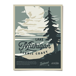 Lake Michigan National Landmark Poster