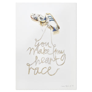 "You Make My Heart Race 11.75"" x 17"" Print"