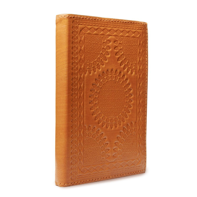 Fair Trade Leather Embossed Journal Notebook