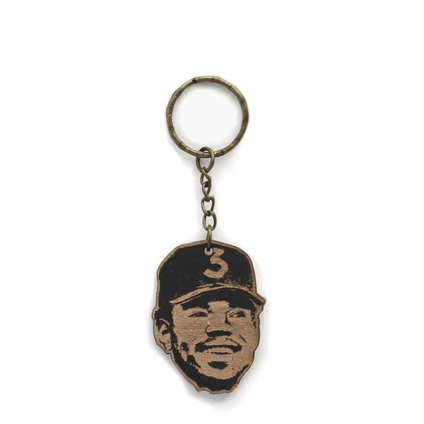 Chance the Rapper Lasercut Wood Keychain