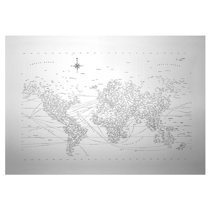 Typographic World Map 20