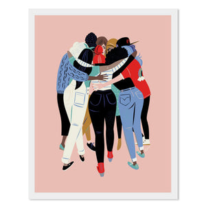 "Women Huddle 11"" x 14"" Archival Print"