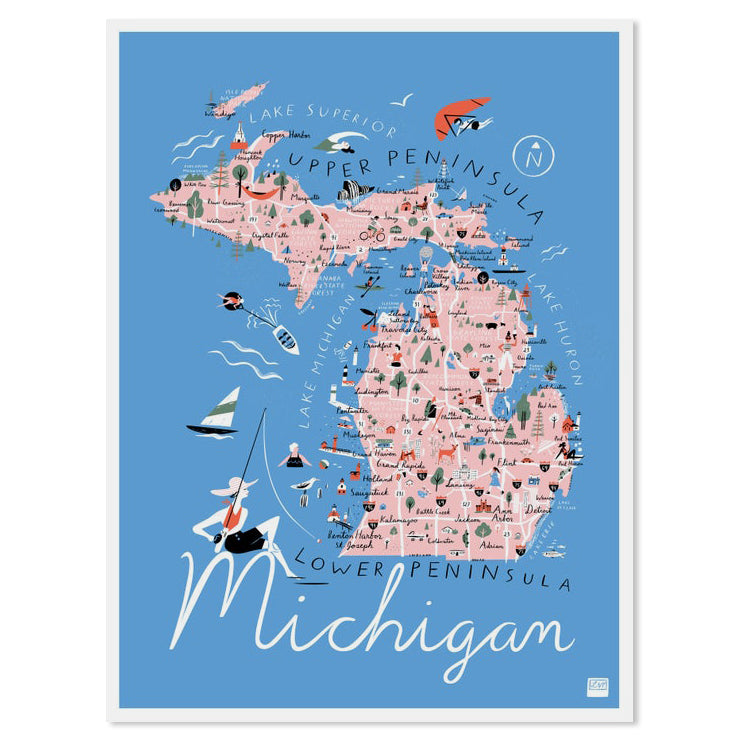 Michigan State Illustrated Map 11