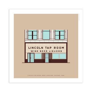 "Lincoln Tap Room Chicago Storefront 8"" x 8"" Archival Print"