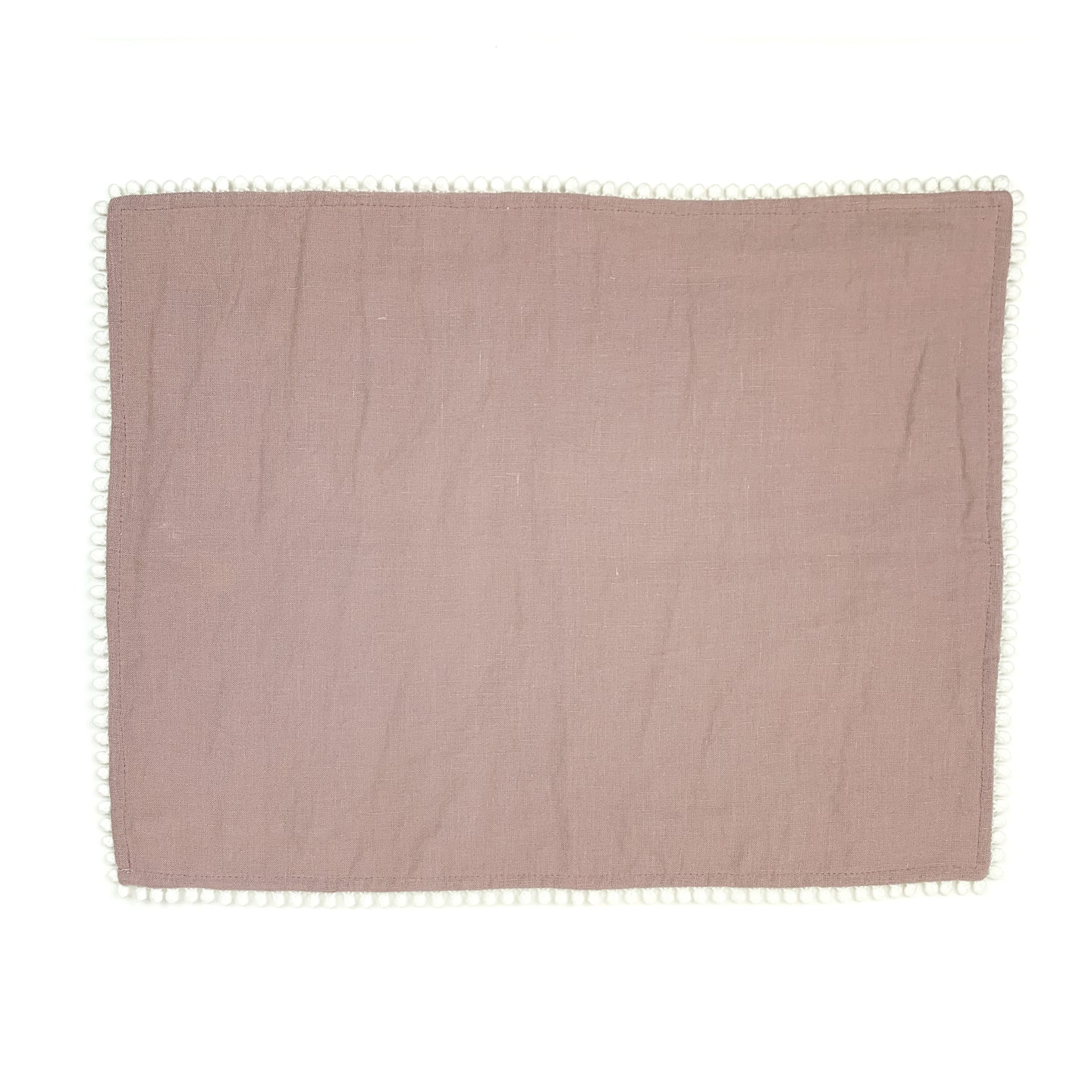 Linen Placemat with Pom Trim