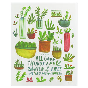 "All Good Things Succulents 11"" x 14"" Print"
