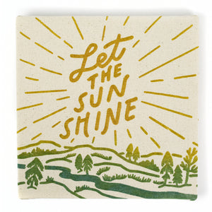 "Let The Sun Shine 8"" x 8"" Canvas"
