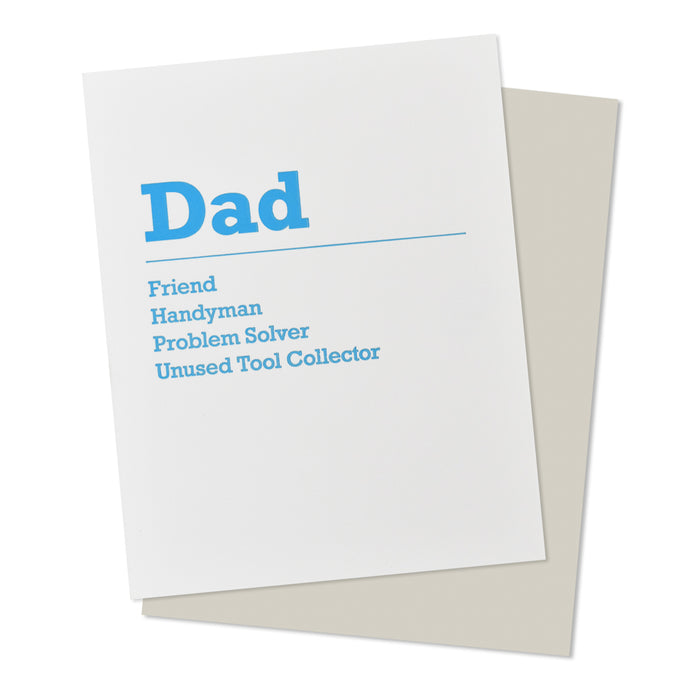 Dad Handyman Tool Collector Father's Day Card