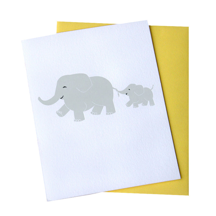 Elephants Baby Card