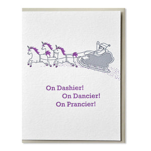 Dashier Dancier Prancier Card
