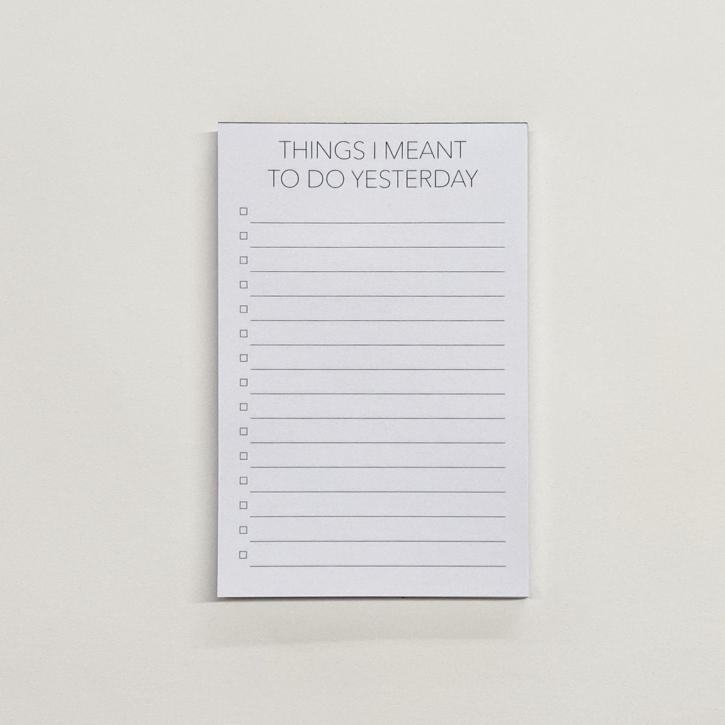 Meant to Do List Notepad