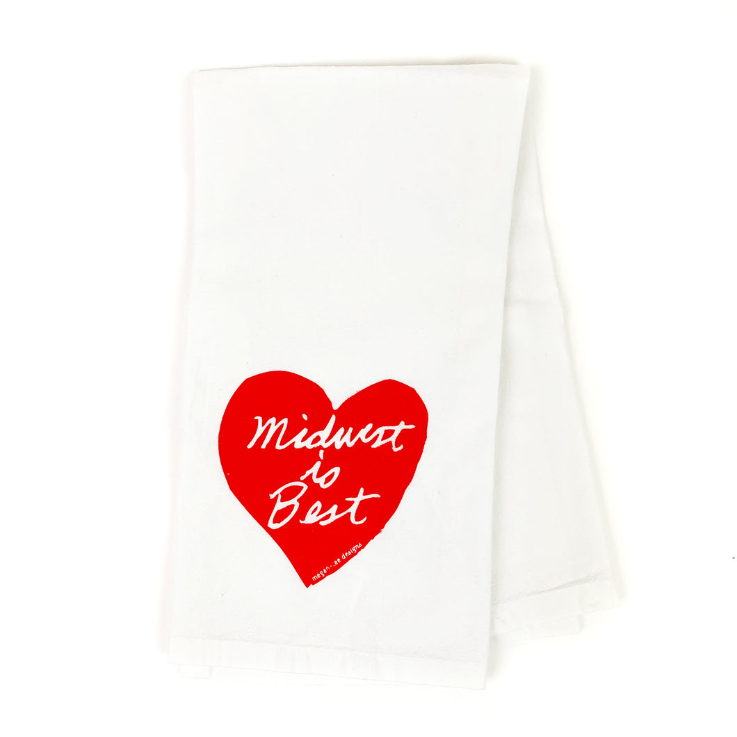 Midwest is Best Kitchen Tea Towel