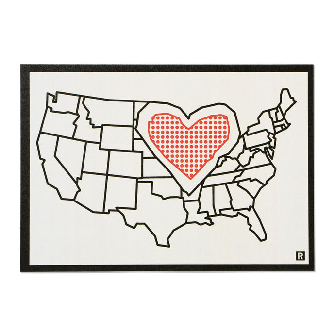 Heartland Map Postcard