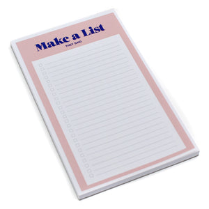 Make a List Notepad