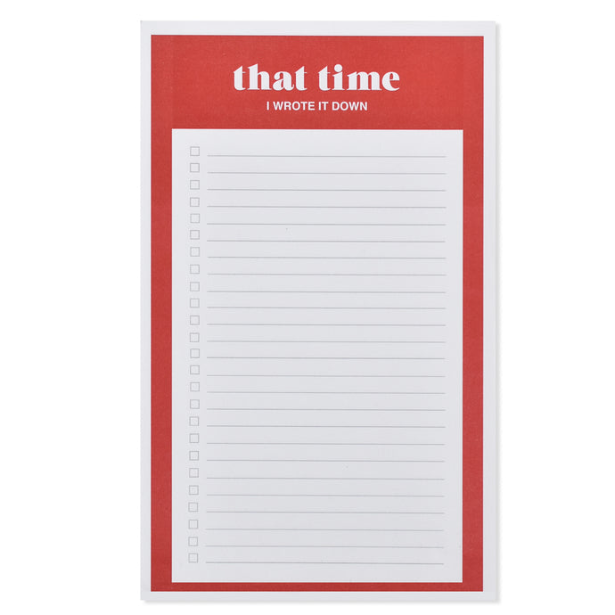 That Time List Notepad