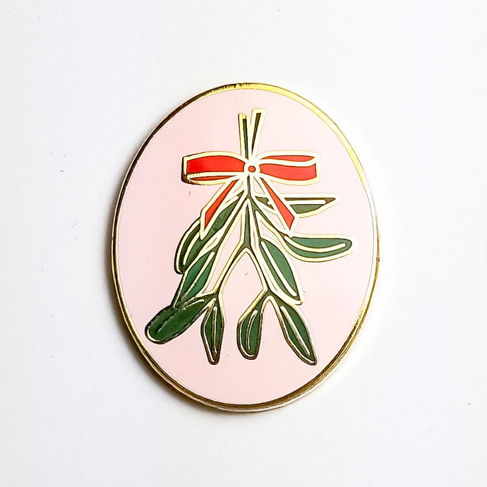 Mistletoe Holiday Enamel Pin
