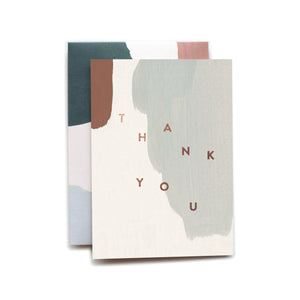 Thank You Copper Foil Stamped  Card