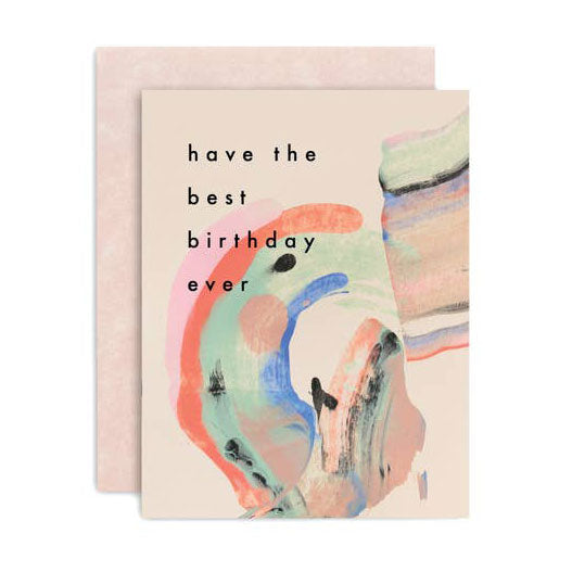 Have the Best Birthday Ever Candy Painted Card
