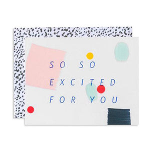 So So Excited Confetti Card