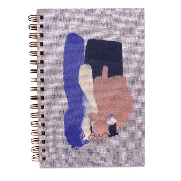 Blur Hand-Painted Spiral Notebook