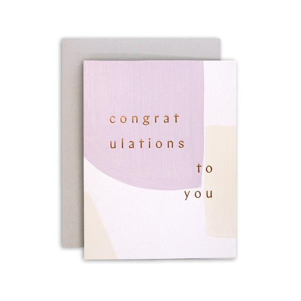 Sage Congratulations Letterpress Card