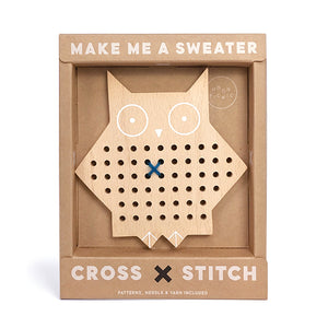 Cross-Stitch Friend Wooden Toy