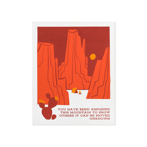 "Mountain Can Be Moved Typographic 8"" x 10"" Limited Edition Screen Print"