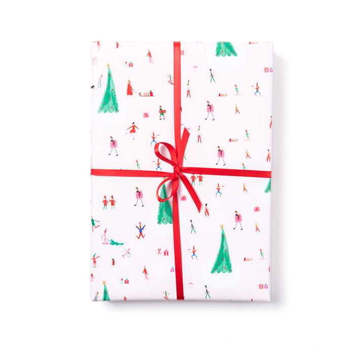 Christmas in Copenhagen Holiday Gift Wrap (Roll of 3 Sheets)
