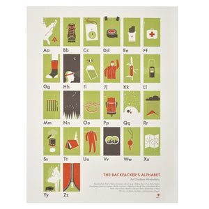 "The Backpacker's Alphabet 18"" x 24"" Print"