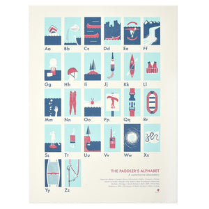 "The Paddler's Alphabet 18"" x 24"" Print"