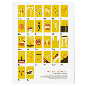 "The Cyclist's Alphabet 18"" x 24"" Print"