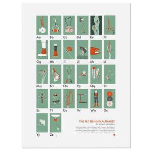 "The Fly Fisher's Alphabet 18"" x 24"" Print"