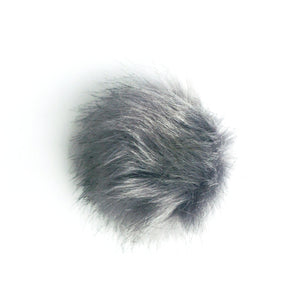 Removable Beanie Hat Pom Faux Fur Puff