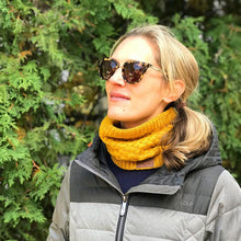 Faux Fur Lined Neck Scarf