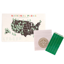 "National Parks Checklist Map 11"" x 17"" Poster with Stickers"
