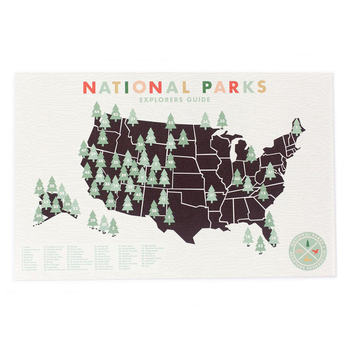 National Parks Checklist Map 11