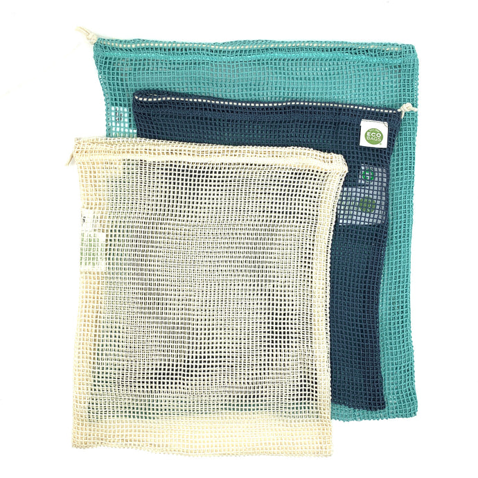 Net Reusable Produce or Bulk Bags (Set of 3)