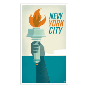 "NYC Statue of Liberty 14"" x 24"" Screen Print"