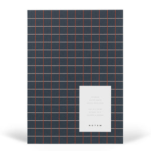 Vita Striped Paper-Cover Notebook