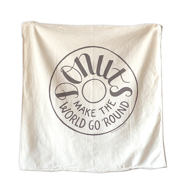 Donuts Make the World Go Round Kitchen Towel