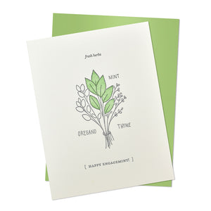 Happy Engagement Mint Card