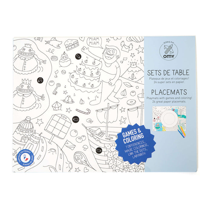 Games Coloring Sheet Placemats