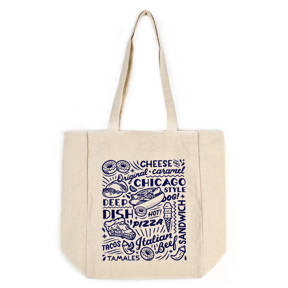 Chicago Food Icons Tote Bag