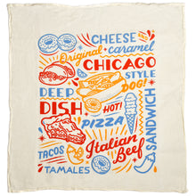 Chicago Food Icons Kitchen Tea Towel