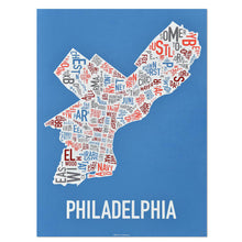 Philadelphia Typographic Neighborhood Map Poster