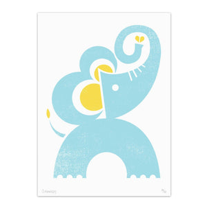 "Elephant 8.5"" x 11"" Screen Print"