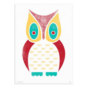 "Owl 8.5"" x 11"" Screen Print"